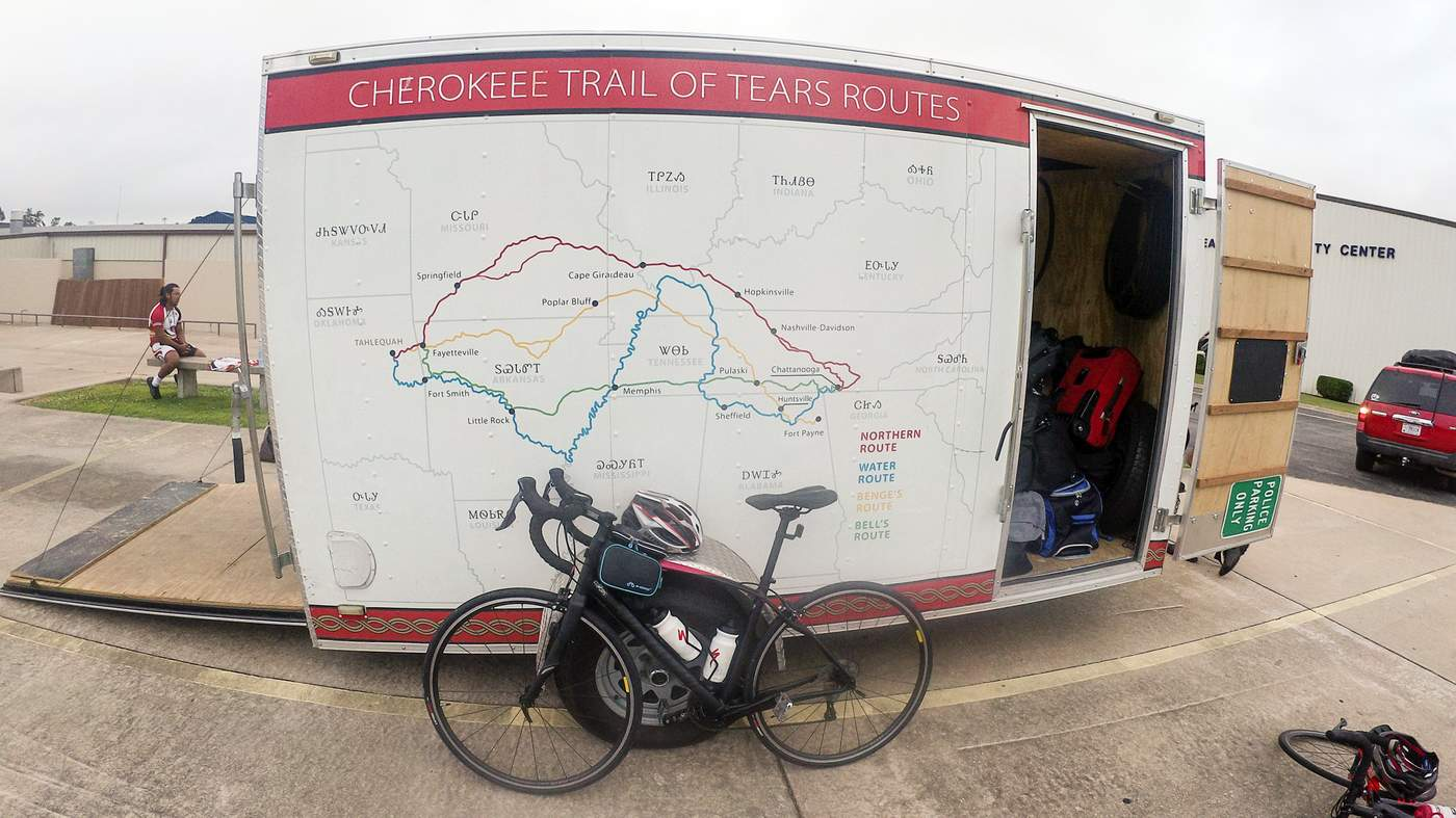 Long-distance bike ride connects John Perry to his Cherokee